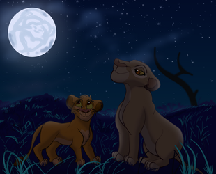 The Lion in the Moon by Fawnadeer