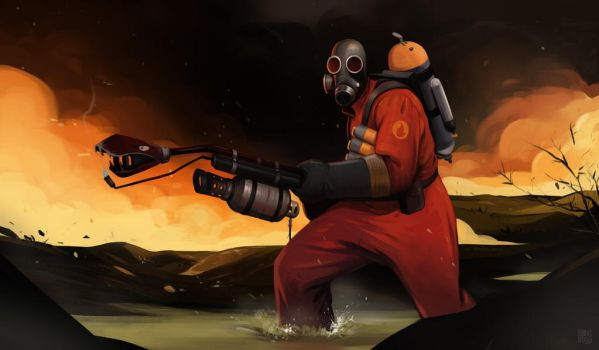 Pyro'll always find you! by KRedous