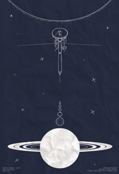 Monthly Space: Cassini-Huygens Poster by Ardwick