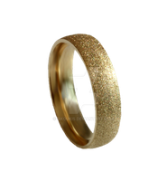 Sandblasted Gold Ring PNG STOCK by AKoukis