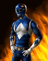 Blue Power Ranger by Know-Kname
