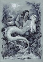 Bard and Thranduil - MermanAU by Candra