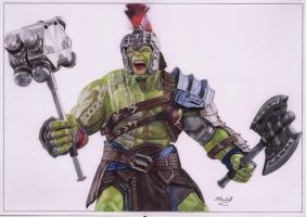 Colour Pencil 'The Hulk' from Thor Ragnarok by mchurchill1982
