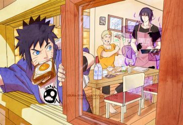 daily morning . uzumaki family by usura-tonkachi