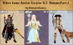 Video Game Avatar Creator Human:Part.1 by Rinmaru