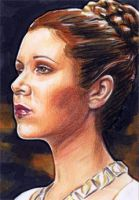 Princess Leia Sketch Card 2 by veripwolf