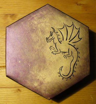 Purple Dragon Box by KarinHager
