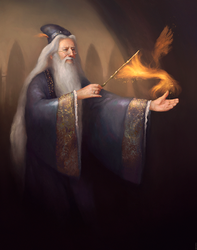 Albus Percival Wulfric Brian Dumbledore by ralphdamiani