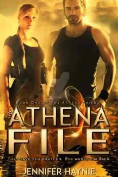 Thriller ebook cover: The Athena File by Dafeenah