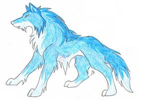 Ice wolf-element contest by AvatarFreak13