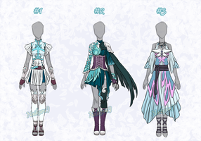 Adoptable outfits 08 - winged heroes (OPEN) by NaikoruJ