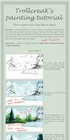 How to paint a lake tutorial by ShanaPatry