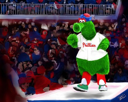 Philly Phanatic - digital oil painting by RandallHzr
