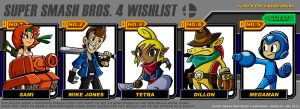 Flints Super Smash Brother's 4 Wishlist by FlintofMother3
