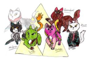 Twilight Princess Cats 2 by nightwindwolf95
