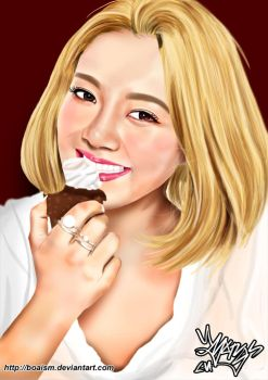 Hyoyeon Digital Painting 47 by BoAism