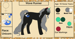 Wave Runner {Reference Sheet+ Bio} by ScarletsFeed