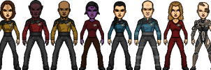 Star Trek Castaways Voyager Crew Pre-Year of Hell by SpiderTrekfan616