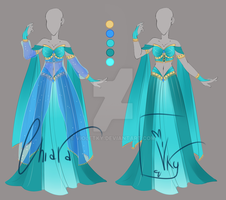 :: Adoptable Turquoise Outfit:  AUCTION CLOSED:: by VioletKy