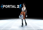 Portal 2: Chell and Wheatley by Cloudi5