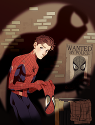 Peter Parker Spiderman Color by saintwizard