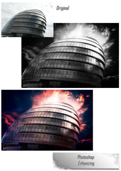 City Hall, London Before and After by haz999