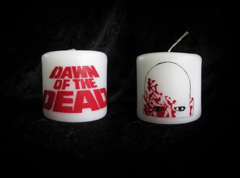 Dawn of the Dead candle by MelissaRTurner