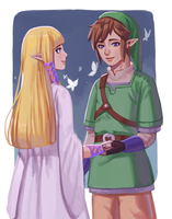 Skyward Sword: Reunion by Carcoiatto
