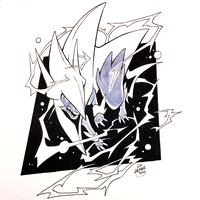 Inktober Day 12 - Mega Manectric by Orangetavi