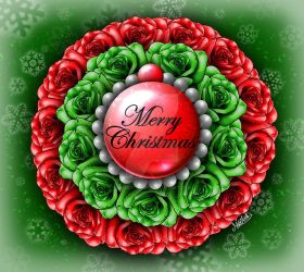 ~*Merry Christmas Rosette*~ by Make-It-Mico