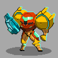 Samus Pixels by SuperManosBros