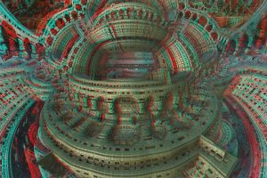 Twisted City Amphitheater Stereo by DDDPhoto