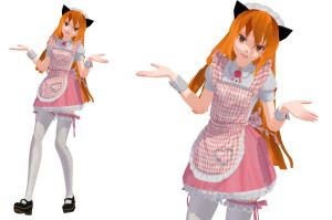 MMD-Kitty Gemma-Maid Outfit [DL in Des] by KittyGemmaSpeck