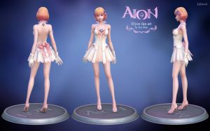 Aion Elyos 3d fan art model by haikai13