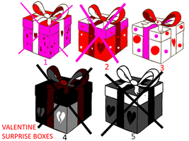 Valentine Surprise Boxes OPEN | 1/5 by kimberlyrav