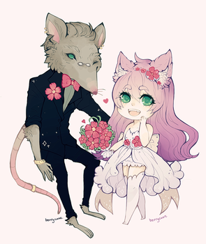 Wedding Lulu and Twitch by berrycoat