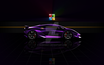 Purple Lamborghini Windows 10 Wallpaper by Geosammy