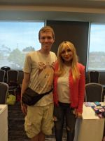 Me and Tara Strong at BABSCon 2017 by XaldinWolfgang