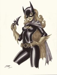 Batgirl Marker Drawing by em-scribbles