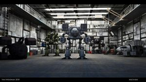Mech Bay by haloband
