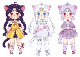 Sailor Moon inspired adopts [CLOSED] by mellowshy