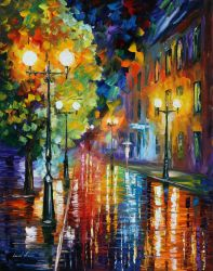 Mysterious Night 2 by Leonid Afremov by Leonidafremov