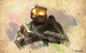 Water Colour Master Chief by Minime637