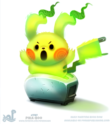 Daily Paint 1787# Pika-boo! by Cryptid-Creations