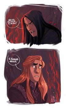 LOTR - What are you looking at? by the-evil-legacy