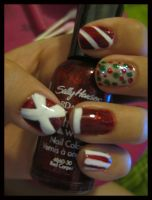 Christmas Nails by xstdx