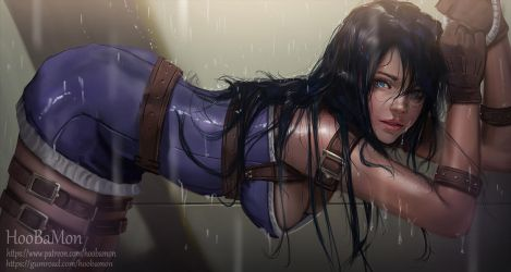 Caitlyn in Shower booth by Hoobamon