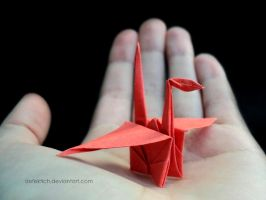 Paper crane. by Defektich