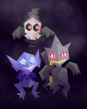 Ghost Pokes by starstruckmana