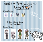 Cheap Pixel icon/Page doll Com's! [CLOSED] by JCBrokenLight
